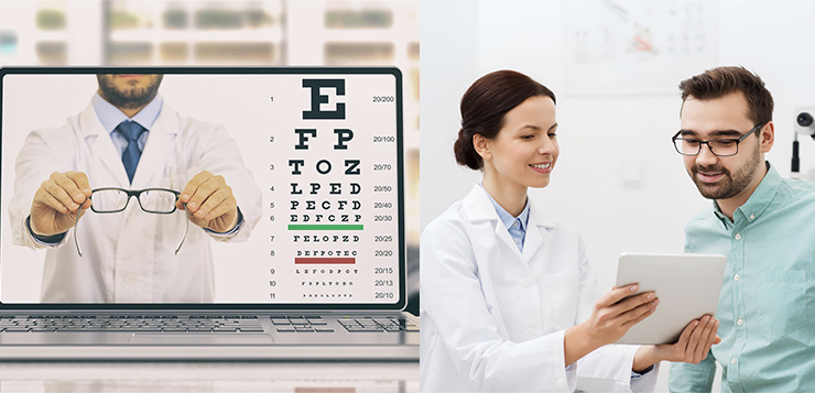Online eye exam vs. in-person eye exam. What are the differences?