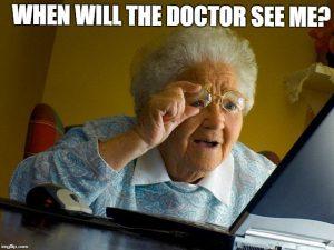 online eye exam funny grandma
