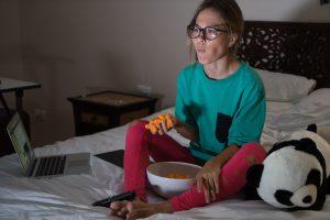online eye exam in pajamas
