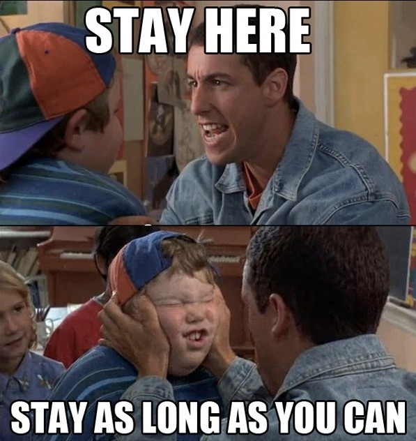 buying contact lenses online - billy madison stay here