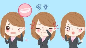woman contact lens discomfort