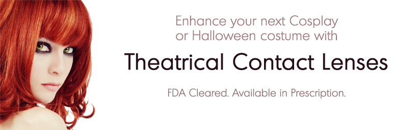 Theatrical Contact Lenses Halloween Promo Banner