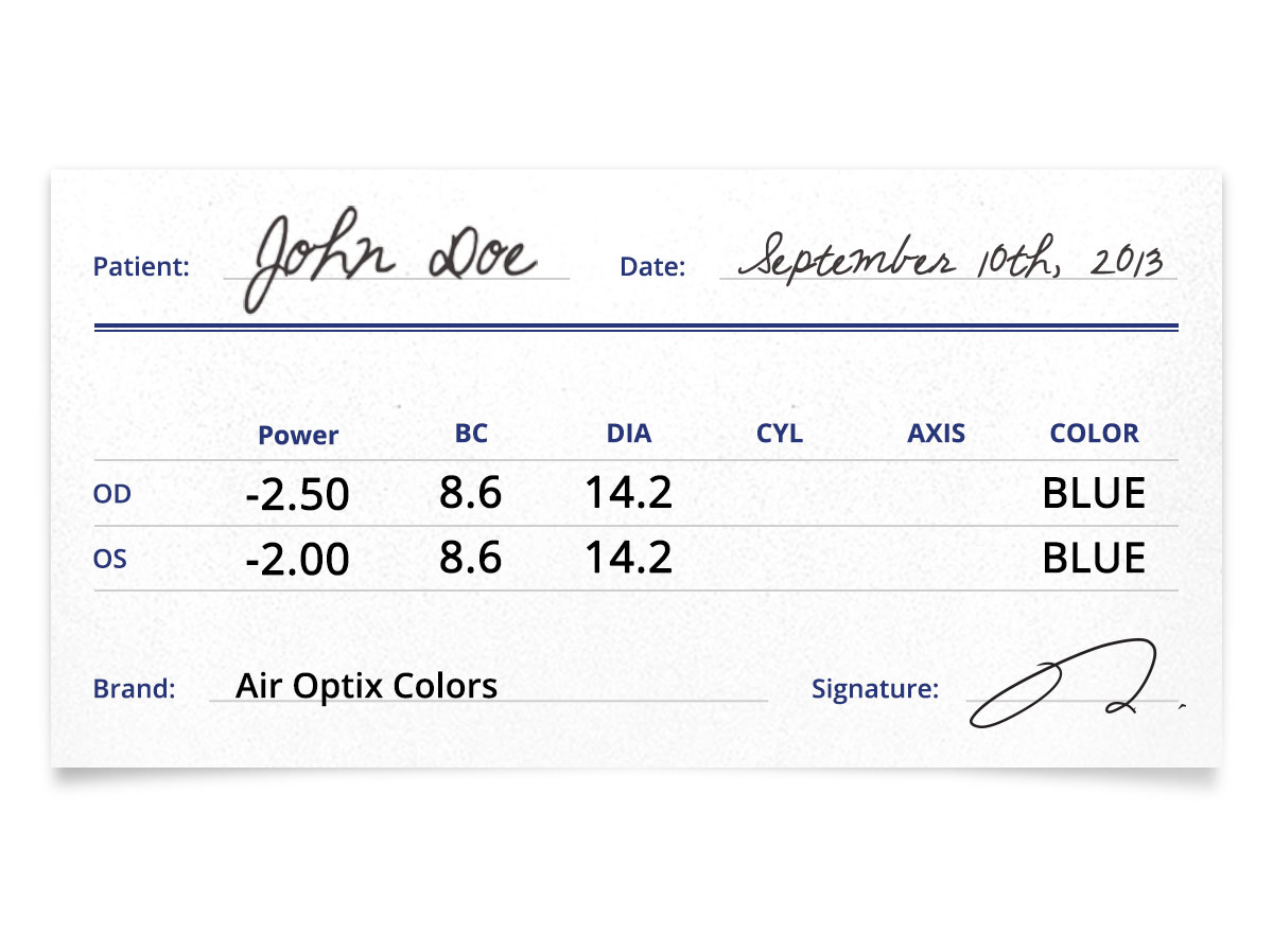 air optix colors prescription contacts