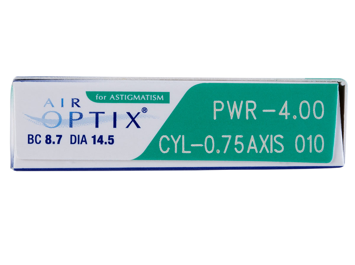 Air Optix for Astigmatism 6pk prescription information