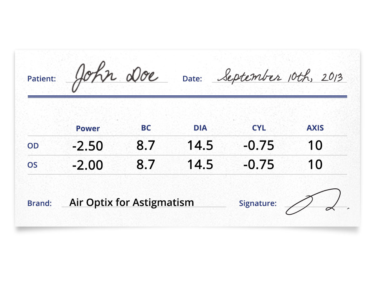 Air Optix for Astigmatism 6pk patient information