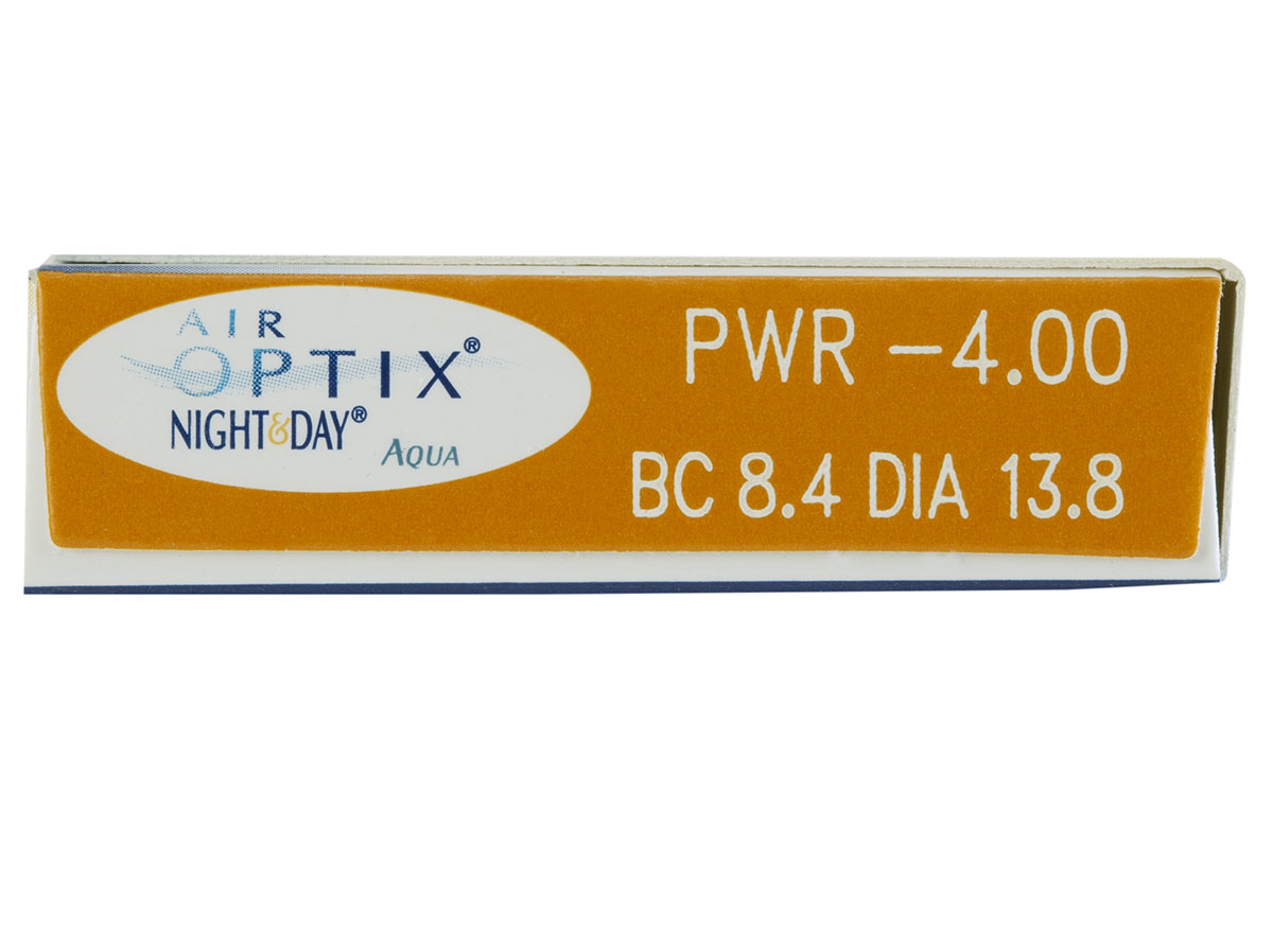 Air Optix Night & Day Aqua 6pk box side