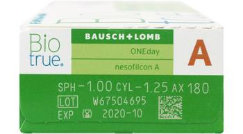 BioTrue one day for astigmatism 30 pack rx