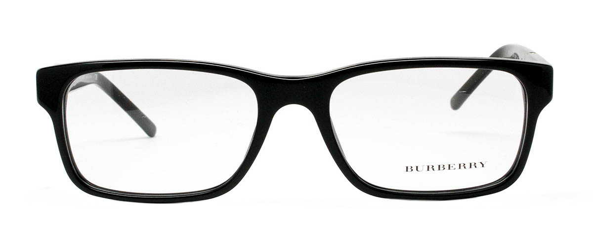 Black Frame Glasses For Guys : Burberry BE2150 Black Thin Square Frame Glasses For Men