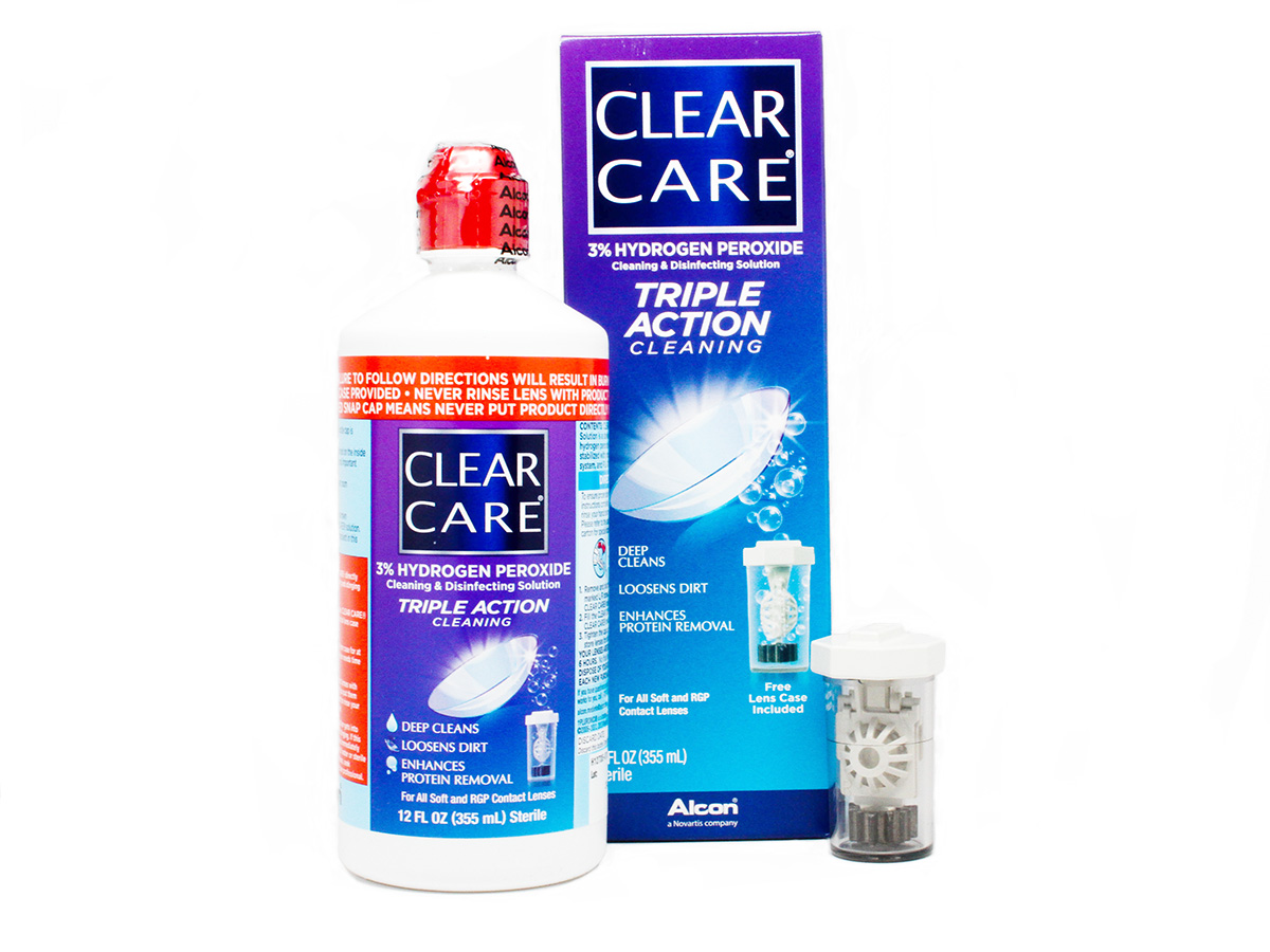 Build Your Home Online Clear Care Triple Action Cleaning Solution 12oz Lensdirect