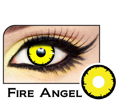 Fire Angelic Yellow Werewolf Contacts