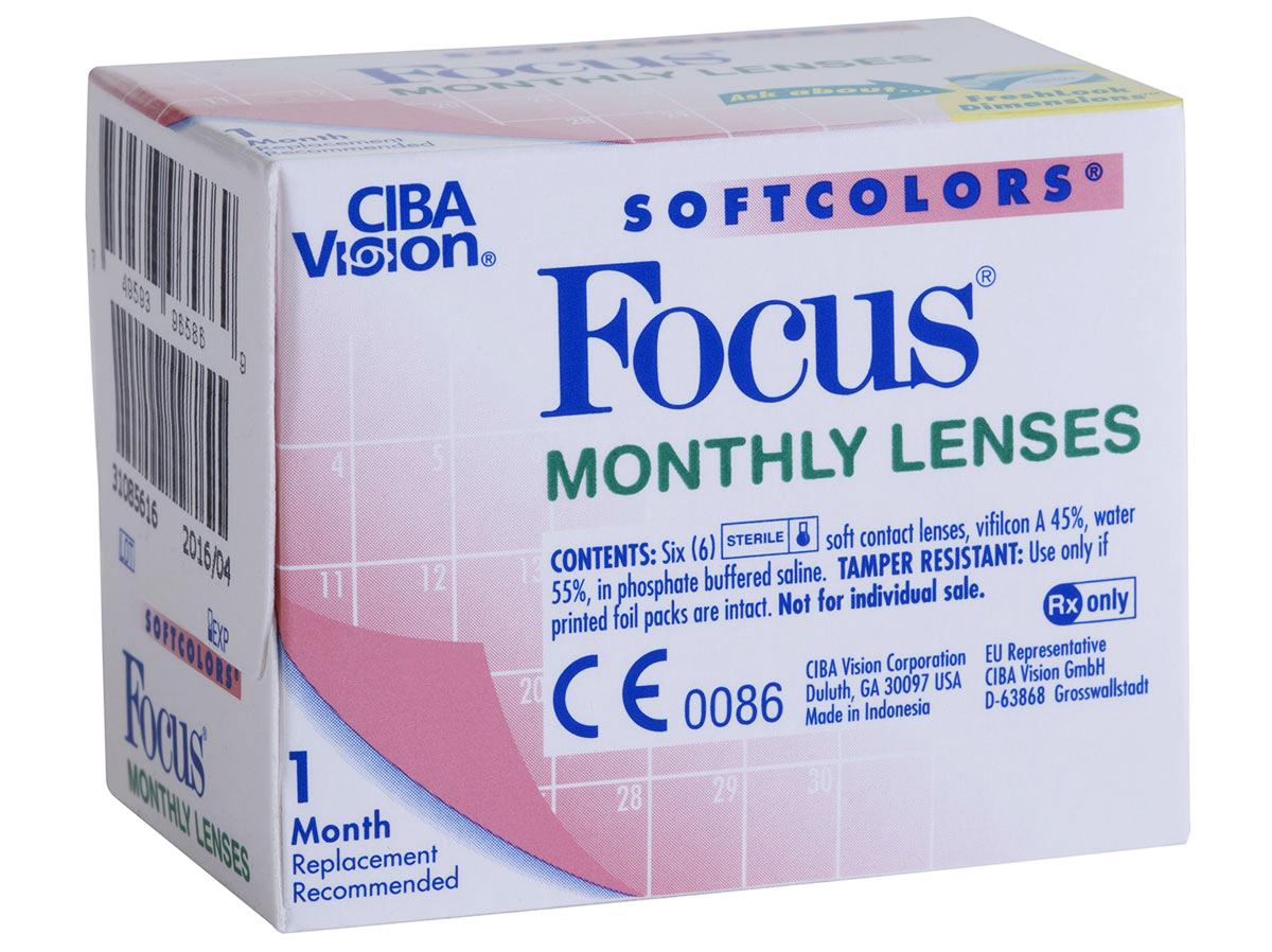 Focus Monthly Softcolors Contact Lenses Lensdirect