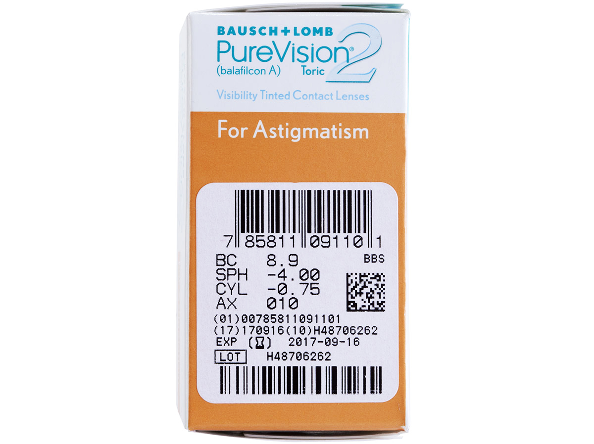 PureVision 2 HD for Astigmatism Contacts Powers
