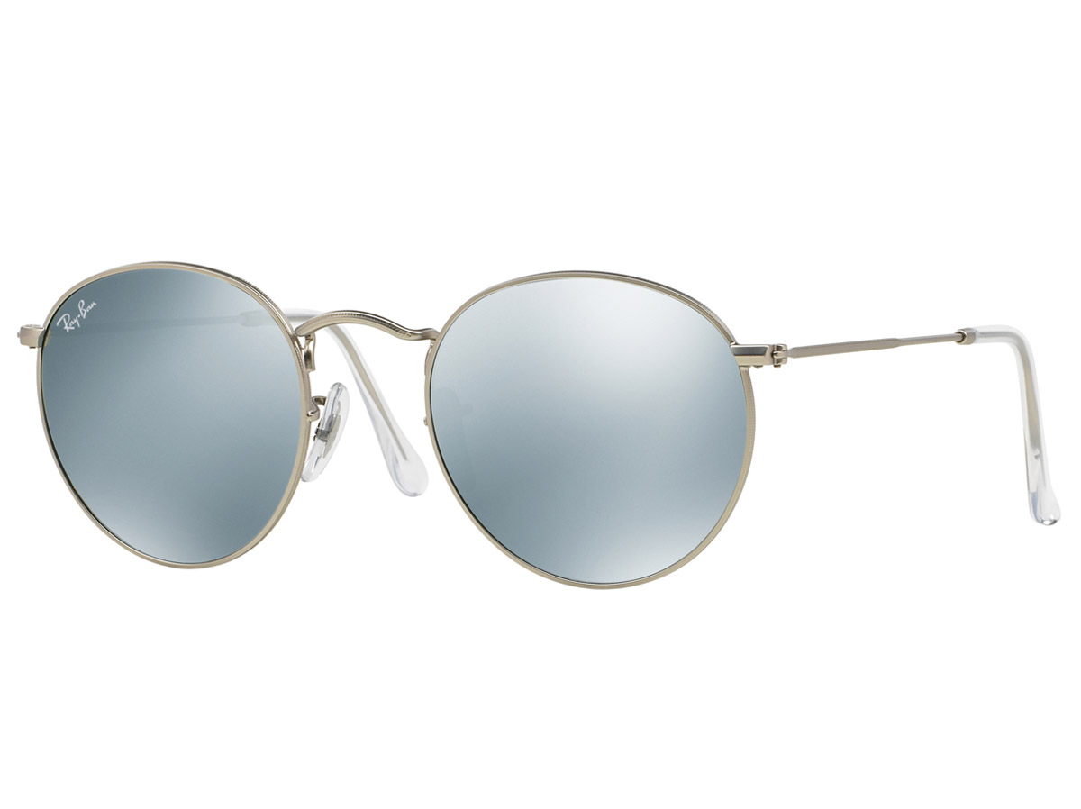 Ray-Ban Round Metal Flash Silver Frame/Silver