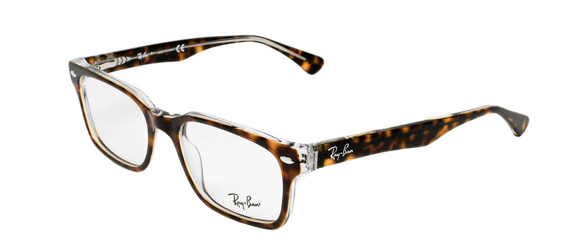 85a11fdd777 Ray-Ban RX5286 5082 Top Havana on Transparent Ray-Ban RX5286 Top Havana on  Transparent Angled ...