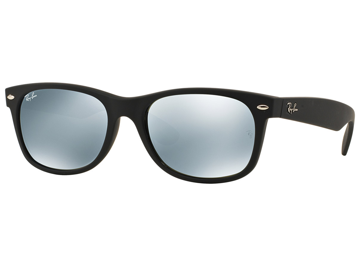 Ray-Ban Wayfarer Flash Matte Black/Silver RB2132