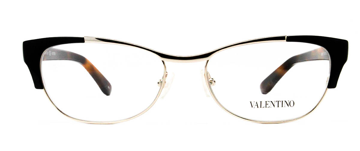 Valentino V2115 011 Black/Light Gold Glasses | LensDirect