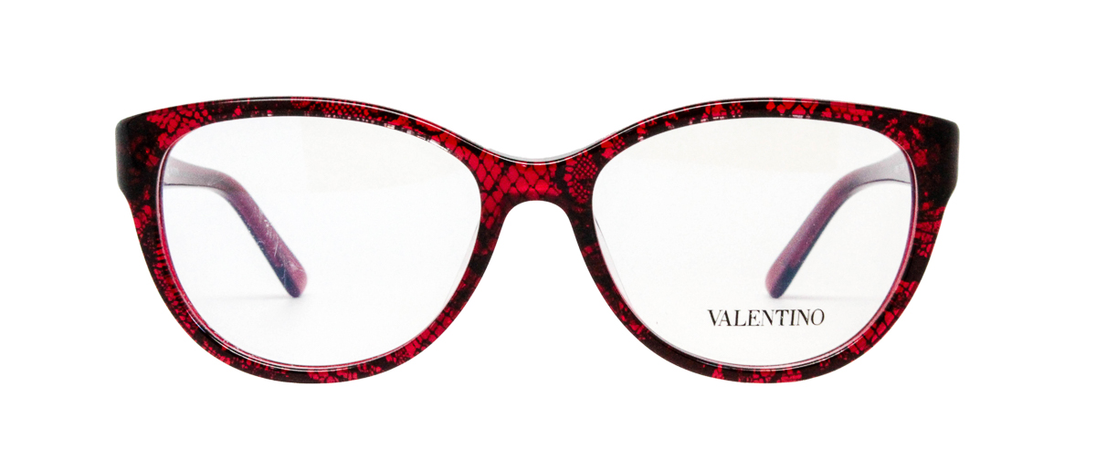 Valentino V2630 Red Snakeskin Glasses