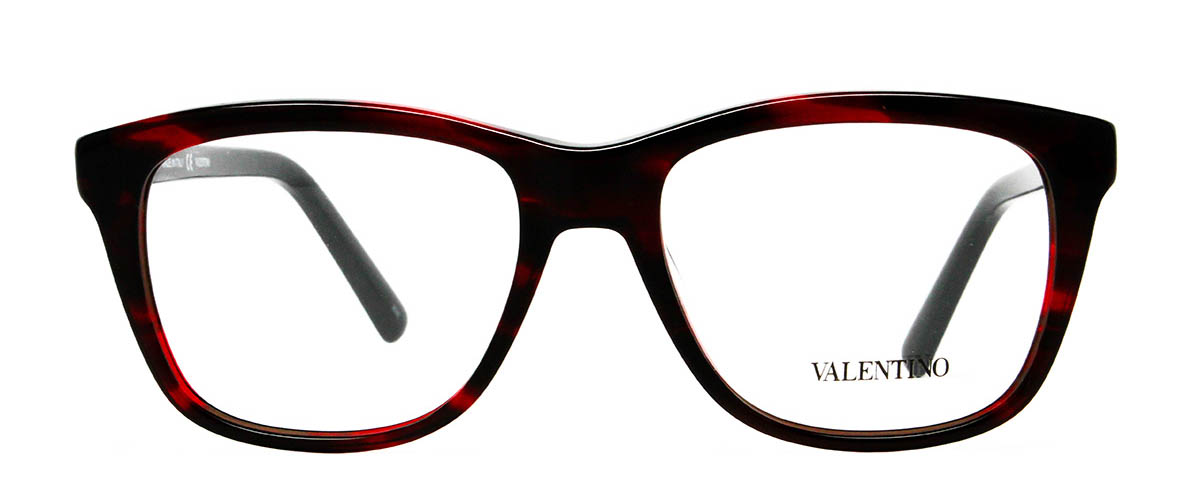 Valentino V2632 Striped Red Glasses
