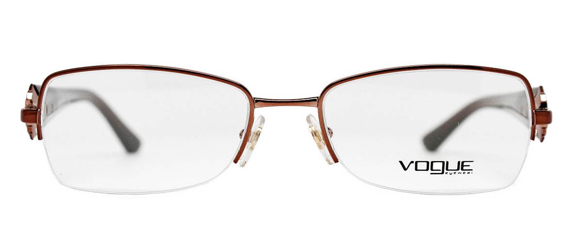 Vogue Vo3864b brown metal eyeglasses