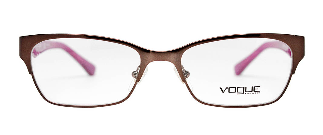 vogue vo3918 brown vogue glasses front