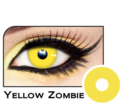 Lunatic Zombie Yellow Contacts