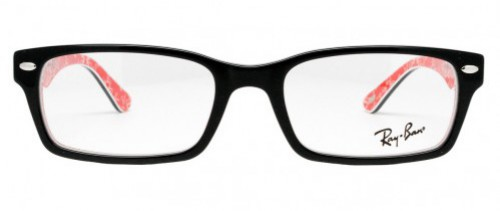 Ray-Ban RX5206 Top Black on Textured Red